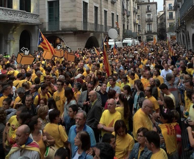 Elkarretaratzea Gironan