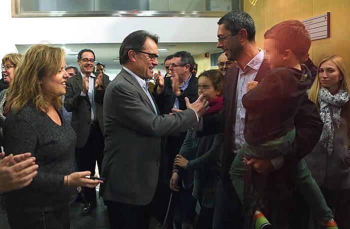 Artur Mas, CDCko egoitzan