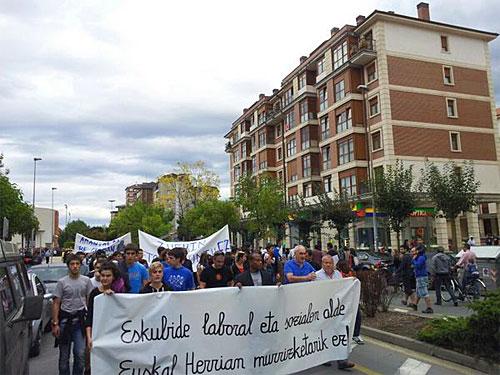 Durangon egindako manifestazioa