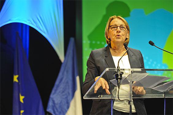 Frantziako Deszentralizazio ministro Marylise Lebranchu Miarritzen, herri eta hiri elkargoen topaketan parte hartzen