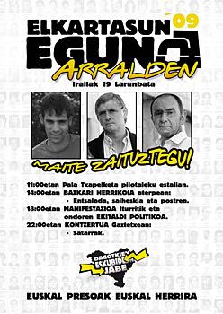 Amnistiaren Aldeko Mugimenduaren kartela 'Arraldeko ekitaldiaz'.