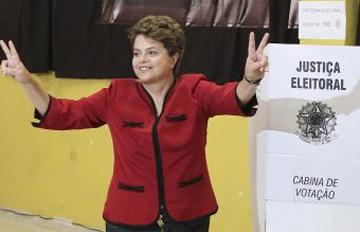 Dilma Rousseff, botoa ematera zihoazean.