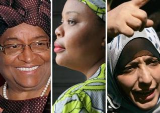 Ellen Johnson Sirleaf, Leymah Gbowee eta Tawakkul Karman.