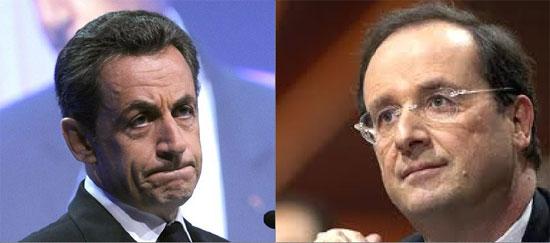 Nicolas Sarkozy (UMP) eta François Hollande (PS). ©