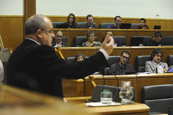 Joseba Egibar, gaur, Eusko Legebiltzarrean.