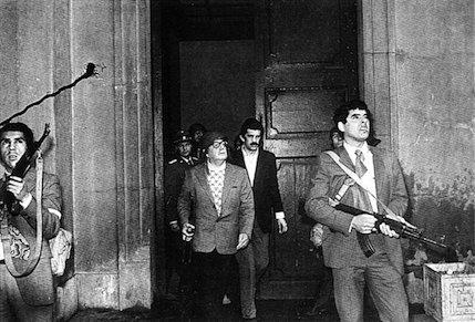 Salvador Allenderen azken argazkia, estatu kolpearen egunekoa.