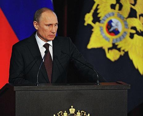 Putin, Barne ministerioak gaur egin duen bileran