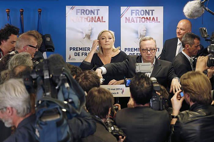 Marine le Pen, zundaketen emaitzak zabaldu ondoren. /