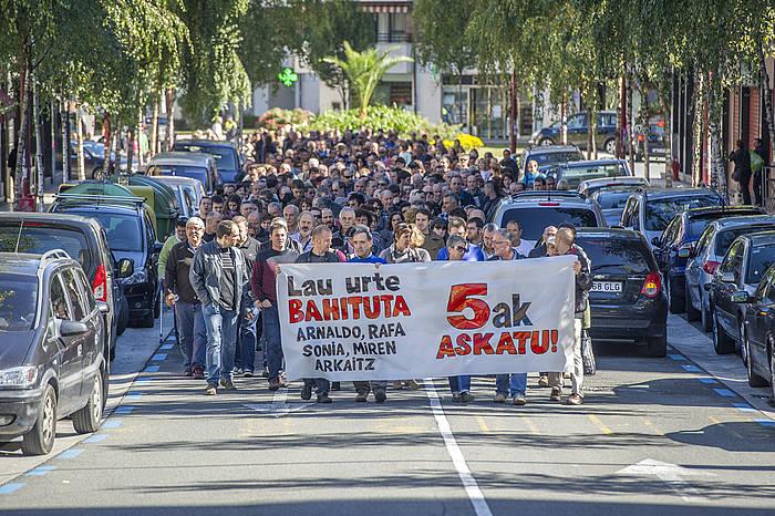 Bateragune auzikoen aldeko manifestazioa, Elgoibarren. / ©Gorka Rubio, ARP