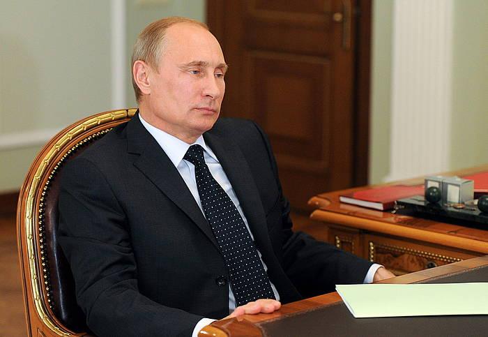 Vladimir Putin Errusiako presidentea, artxiboko irudi batean. /