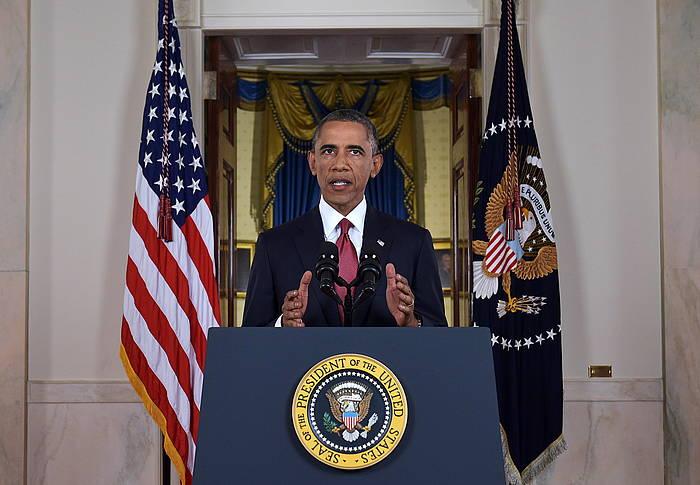 Barack Obama, Estatu Islamikoaren kontrako estrategiaren berri ematen.