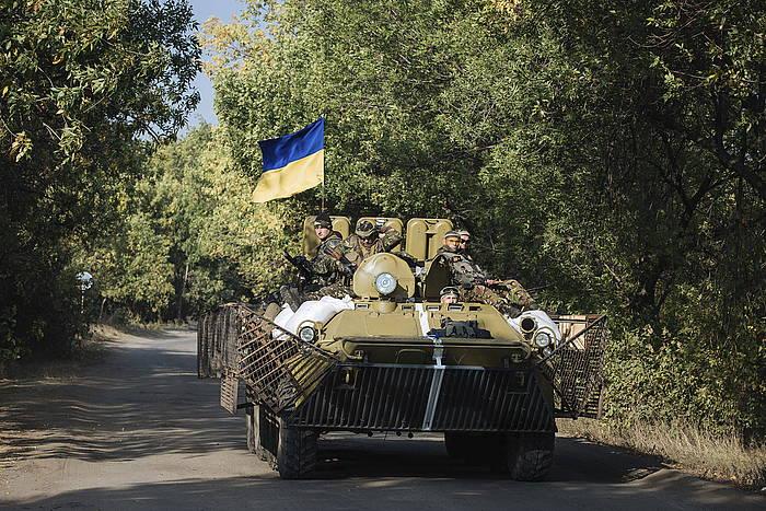 Ukrainako soldaduak. /