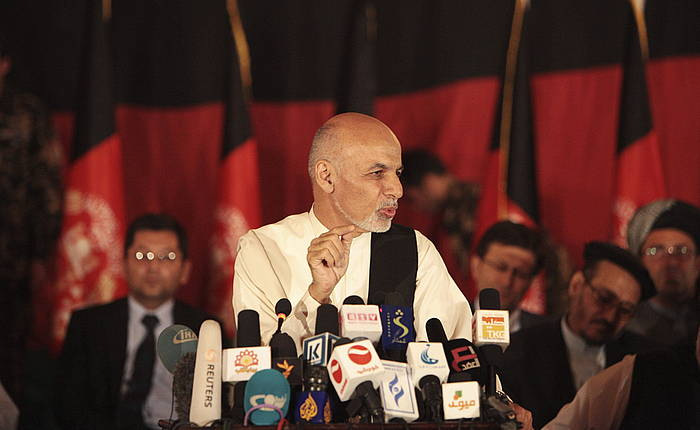 Ashraf Ghani, artxiboko irudi batean.