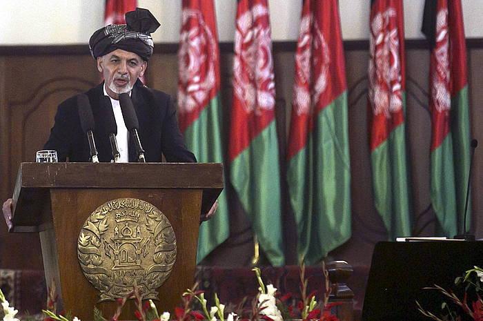 Axraf Ghani, presidente kargua hartzeko ekitaldian eginiko hitzartzean.