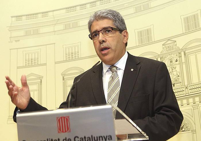 Francesc Homs Generalitateko bozeramailea, aurreko agerraldi batean.