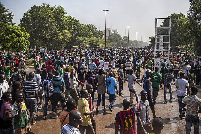 Protesta Uagadugun, Burkina Fason.