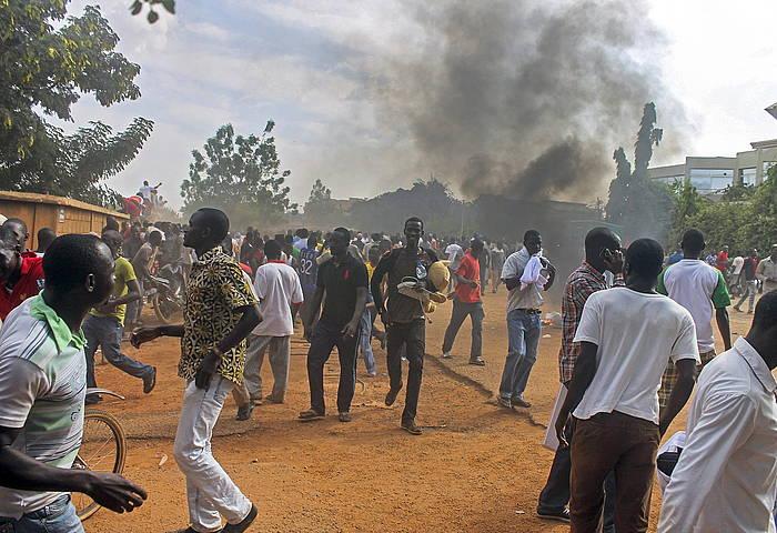 Protestak Uagadugun, Burkina Fason.