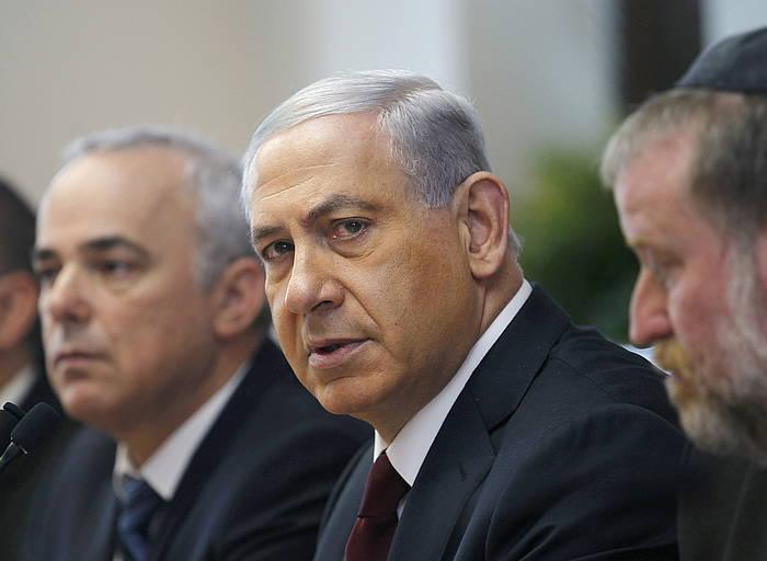 Benjamin Netanyahu Israelgo lehen ministroa.