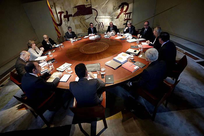 Kataluniako Gobernuaren bilera, Auzitegi Konstituzionalaren erabakiaren berri izan aurretik.