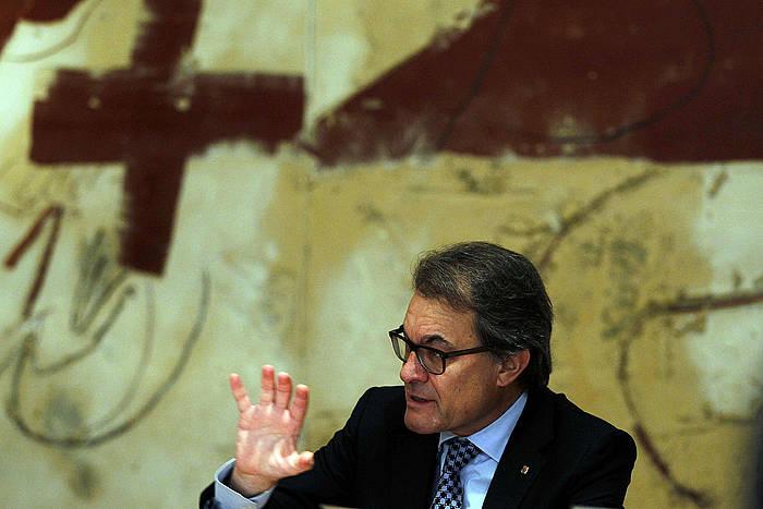 Artur Mas Kataluniako Gobernuko presidentea, atzo, gobernuaren bileran.