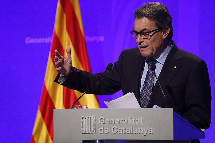 Artur Mas, Kataluniako Gobernuaren bilera osteko agerraldian.
