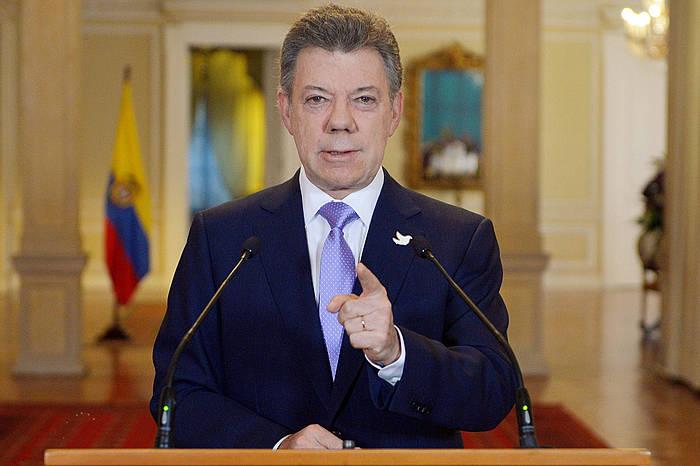 Juan Manuel Santos Kolonbiako Gobernuko presidentea.