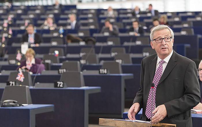 Jean Claude Juncker Europako Batzordeko presidentea.