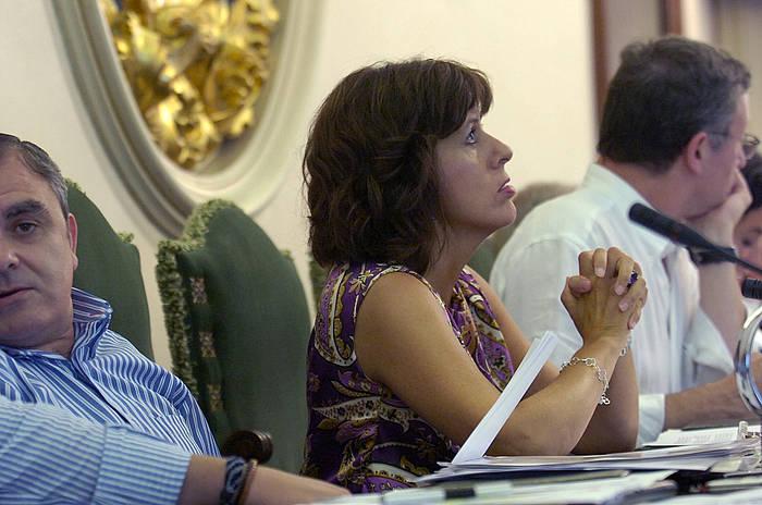 Maite Esporrin, Iruñeko Udaleko osoko bilkura batean.
