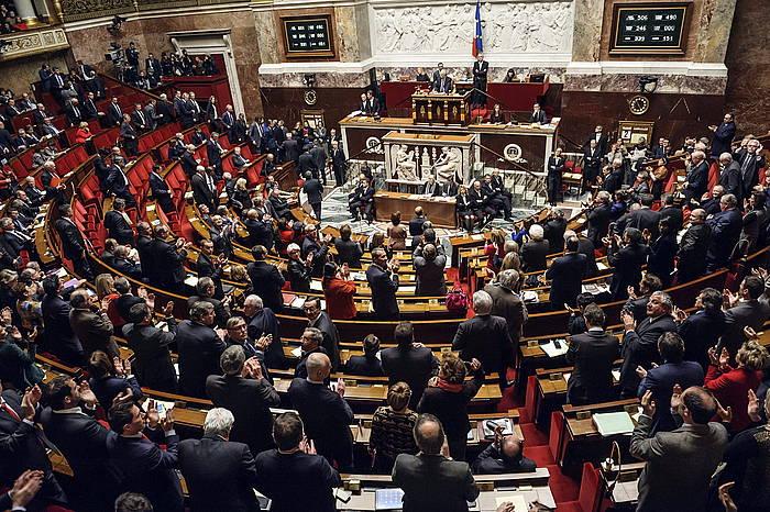 Frantziako Asanblea, Palestina estatu gisa aitortzeko mozioa bozkatu ostean.