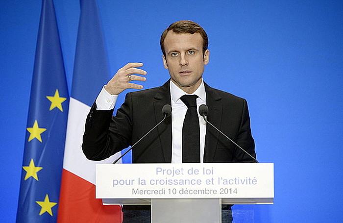 Emmanuel Macron Frantziako Ekonomia ministroa, atzo, bere izena daraman legea aurkezten.