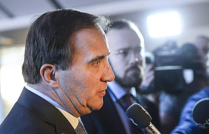 Stefan Lofven Suediako lehen ministroa. /