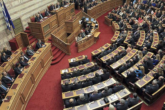 Greziako Parlamentua, herrialdeko presidentea aukeratzeko hirugarren bozketan.