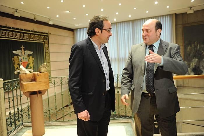 Josep Rull eta Andoni Ortuzar.