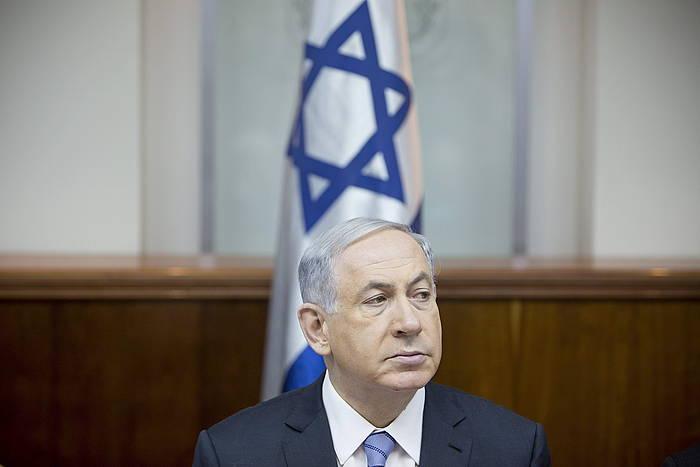 Benjamin Netanyahu lehen ministroa.