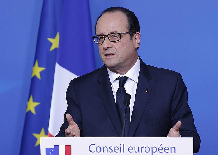 François Hollande Frantziako presidentea.