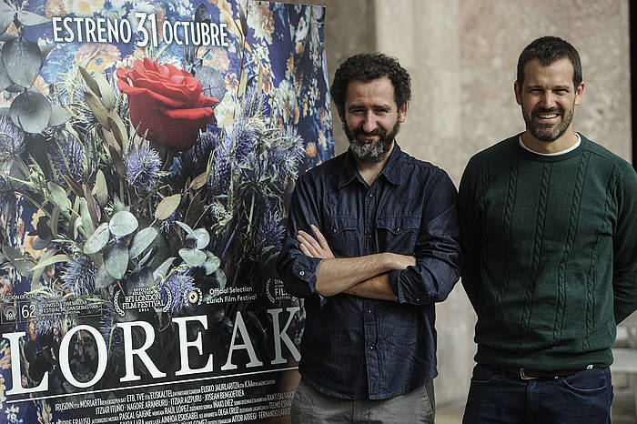 Jon Garaño eta Jose Mari Goenaga, 'Loreak' filmaren zuzendariak.
