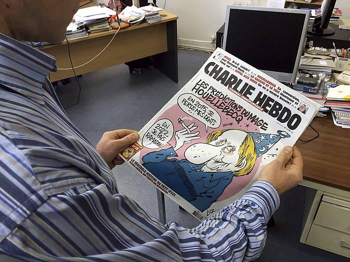 'Charlie Hebdo' aldizkariaren zenbakietako bat. /