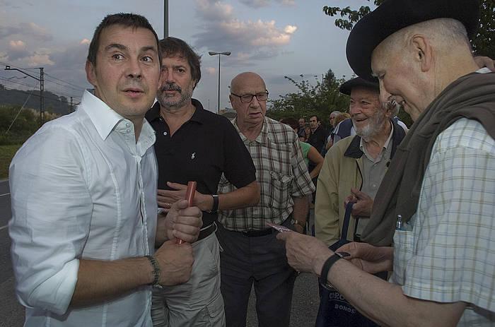 Arnaldo Otegi, 2008ko udan, Martuteneko kartzelatik irten zenean./ ©Jon Urbe, Argazki Press