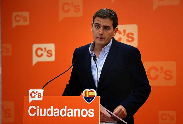 Albert Rivera Ciudadanoseko burua. ©Toni Albir / EFE