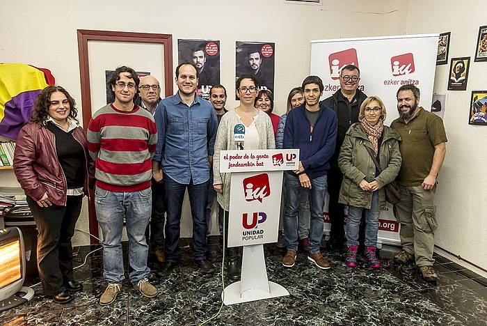 Espainiako kongresurako Arabako hautagaiak aurkeztu ditu UPk. ©Jaizki Fontaneda / Argazki Press
