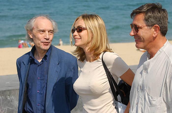 Jacque Rivette 2003an, Donostiako Zinemaldian. 'Histoire de Marie et Julien' filma aurkeztu zuen.