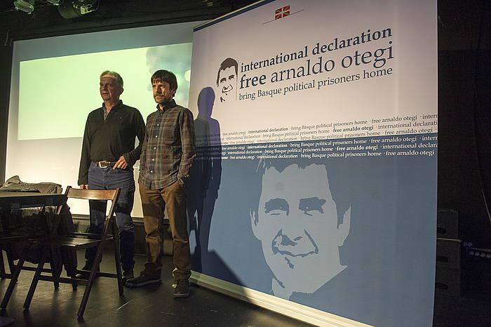 """""""Free Otegi, free them all"""" kanpainako kantuaren aurkezpena. ©Juan Carlos Ruiz / Argazki Press"""