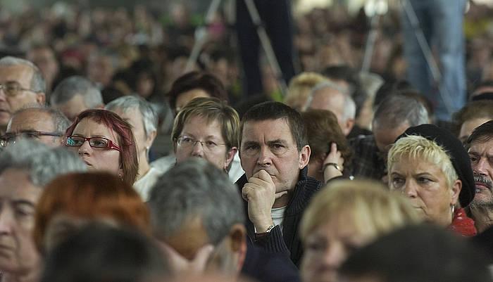 Arnaldo Otegi, 2009ko apirilean, Etxerat elkarteak Landako gunean eginiko ekitaldi batean. ©Jon Urbe / Argazki Press