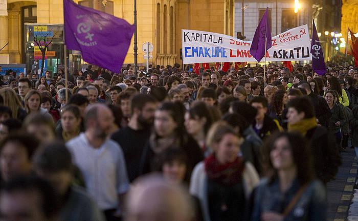 Emakumeen Nazioarteko Eguneko manifestazioa, 2014an.