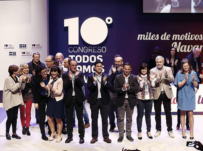 Javier Esparza daukeratu dute UPNko presidente, botoen %83rekin.