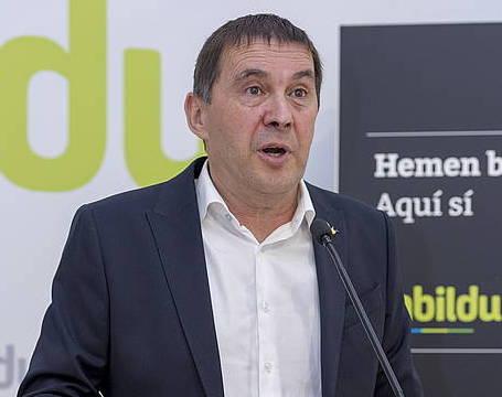 Arnaldo Otegi, EH Bilduko lehendakarigaia, artxiboko irudi batean