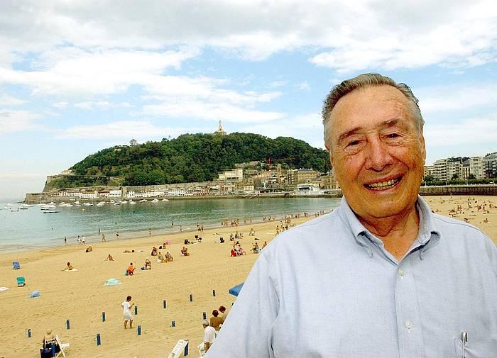 Joseba Leizaola, artxiboko irudi batean.