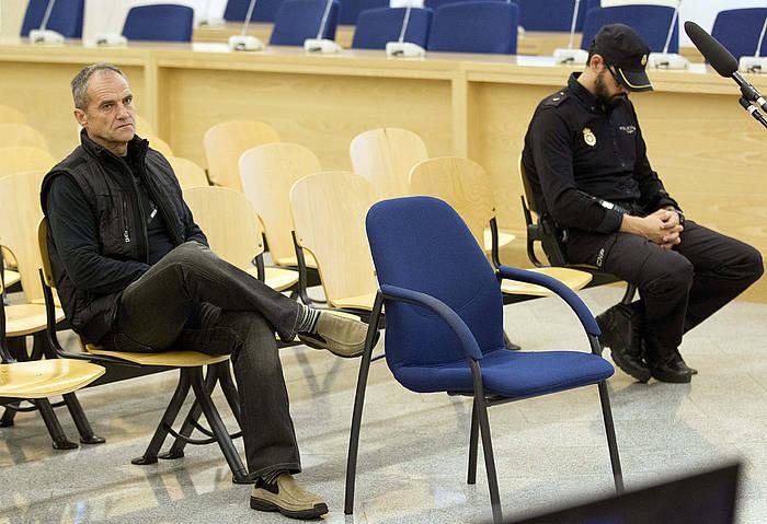 Josetxo Arizkuren Ruiz, 2013an epaiketan batean, Espainiako Auzitegi Nazionalean. /