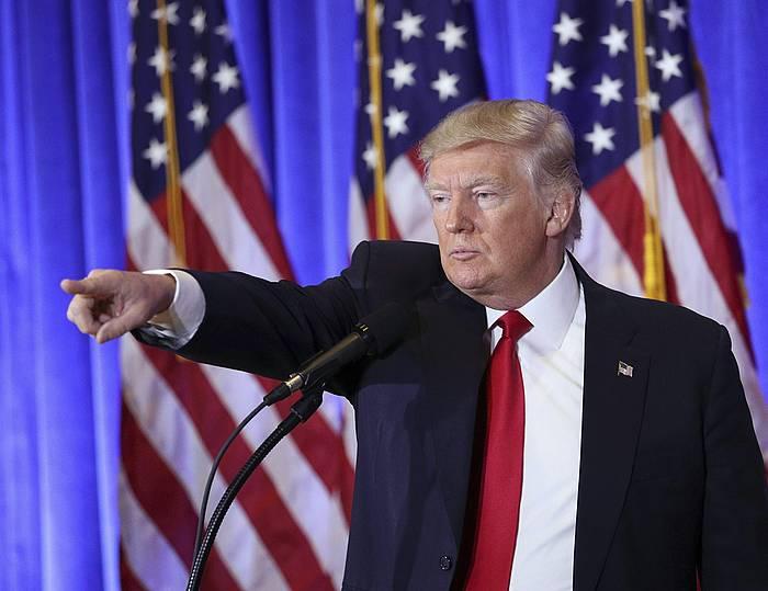Trump, gaurko prentsaurrekoan. /