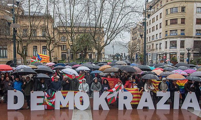 Donostian eginiko elkarretaratzea. ©Andoni Canellada / Argazki Press